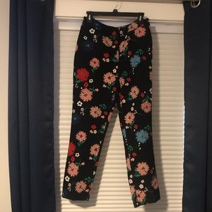 Floral dress pants size 6